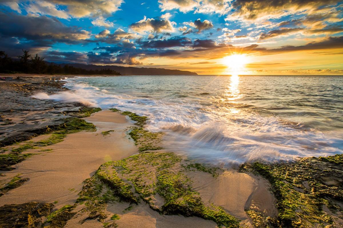 Пазл Собирать пазлы онлайн - Рассвет на Гавайях