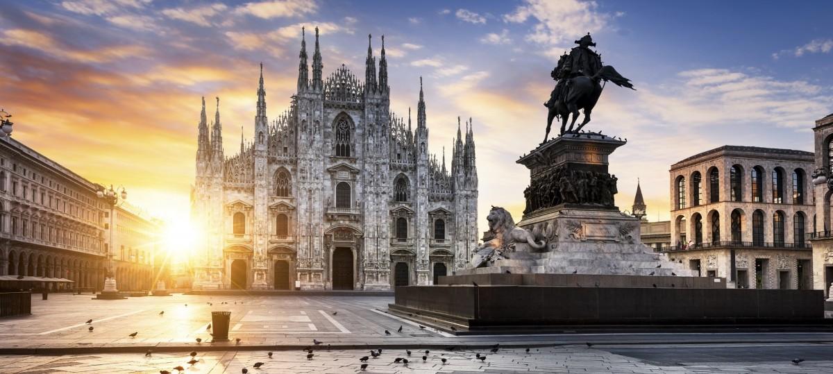 Пазл Собирать пазлы онлайн - Рассвет в Милане