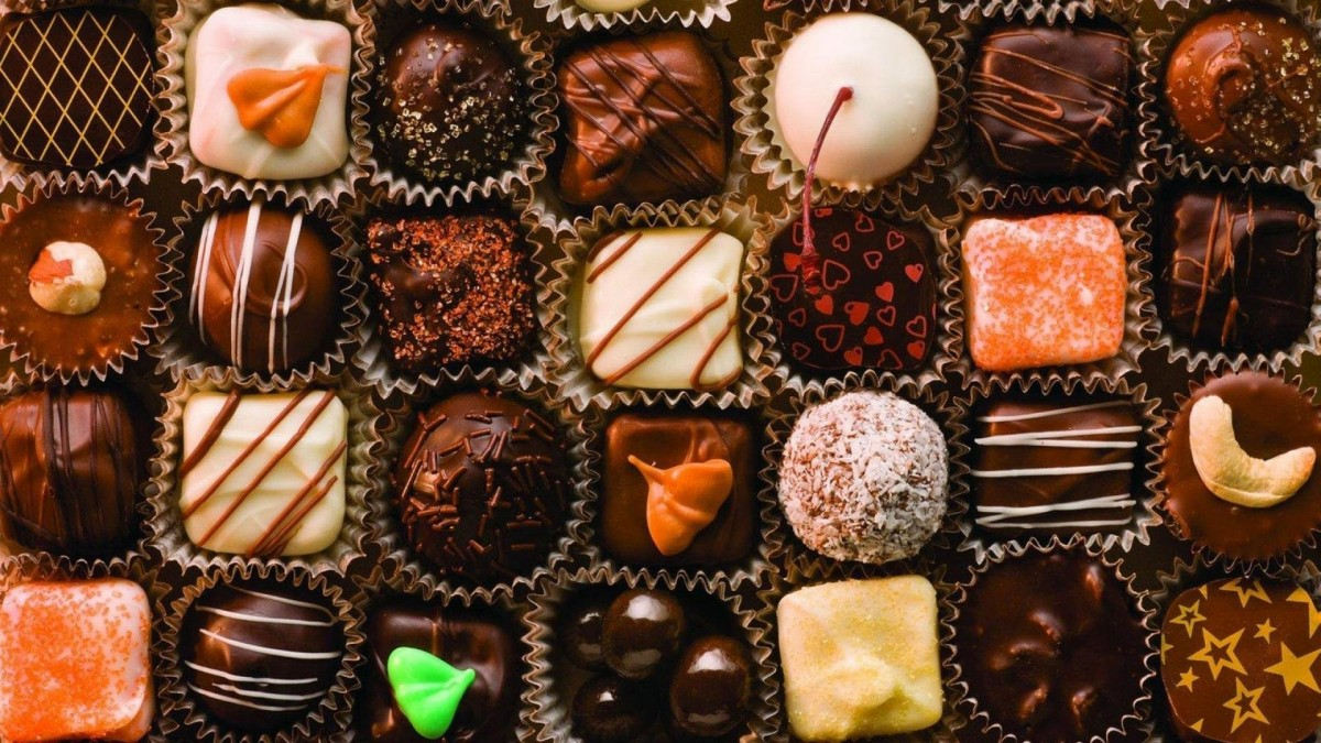 Пазл Собирать пазлы онлайн - Разные конфеты