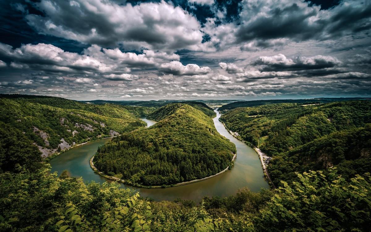 Пазл Собирать пазлы онлайн - Река в Германии