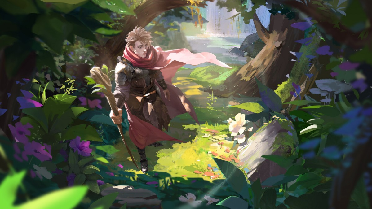 Пазл Собирать пазлы онлайн - Рыцарь в плаще