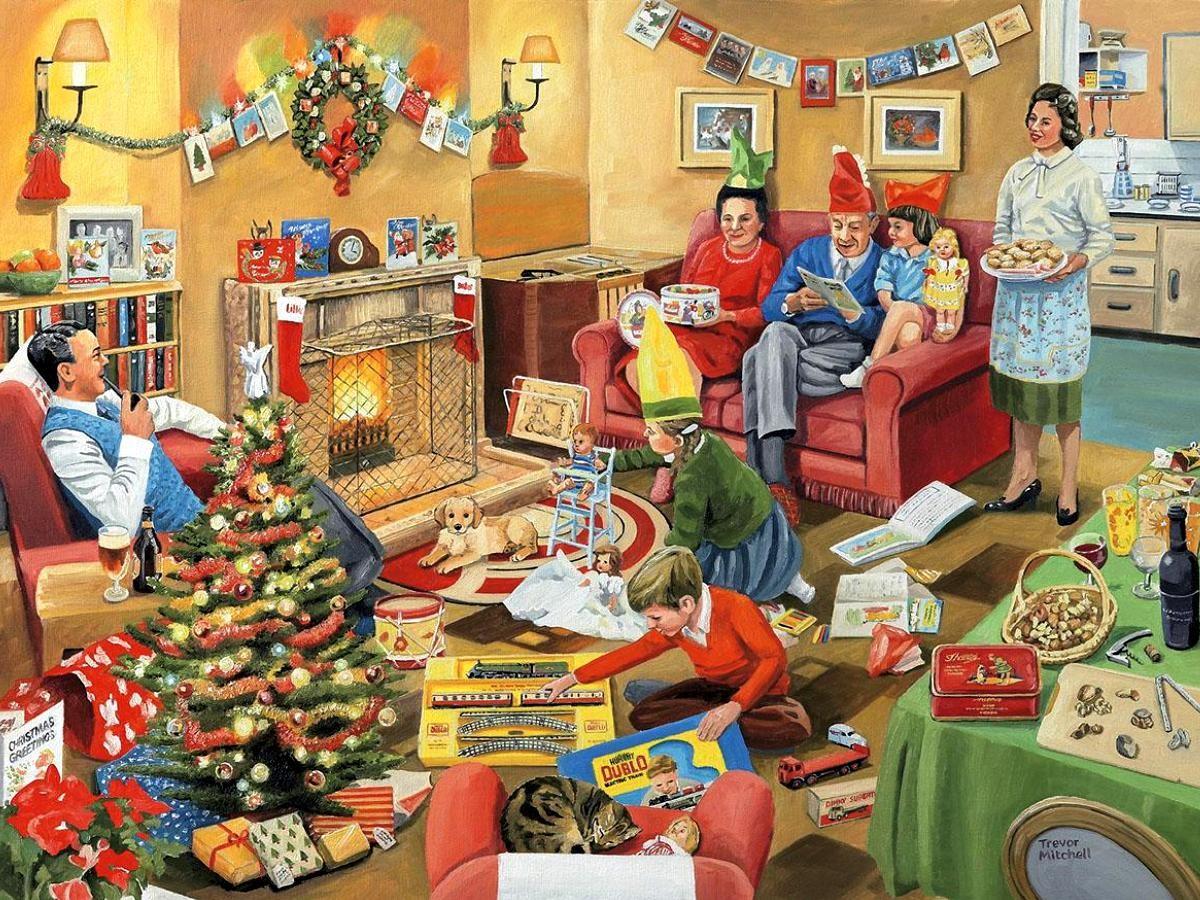 Пазл Собирать пазлы онлайн - Рождественская суета