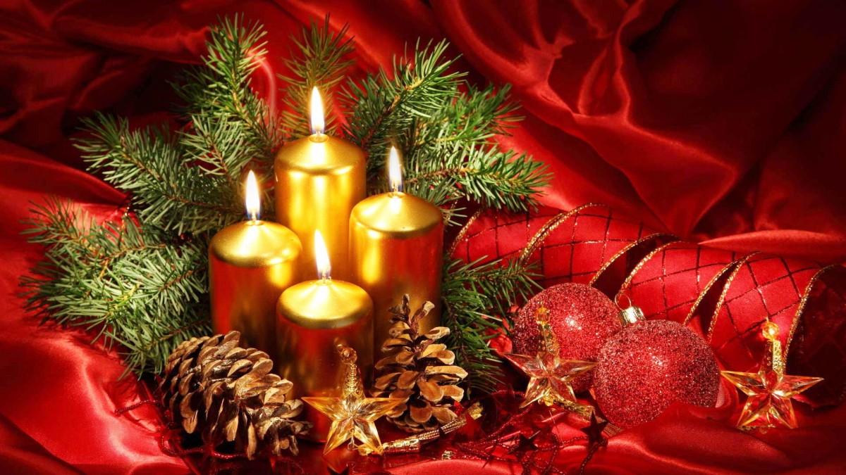 Пазл Собирать пазлы онлайн - Рождественские свечи