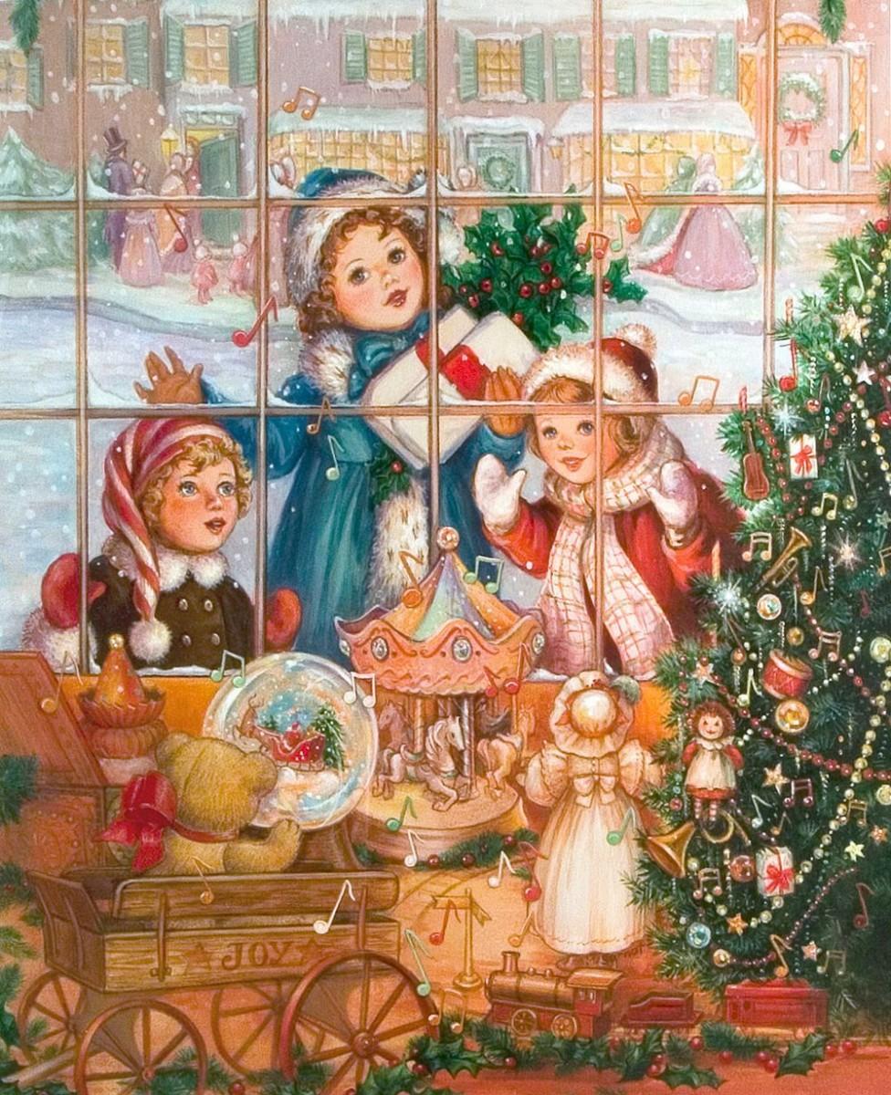 Пазл Собирать пазлы онлайн - Рождество в окне