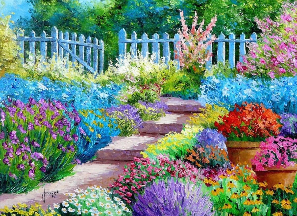 Пазл Собирать пазлы онлайн - Сад любителя цветов