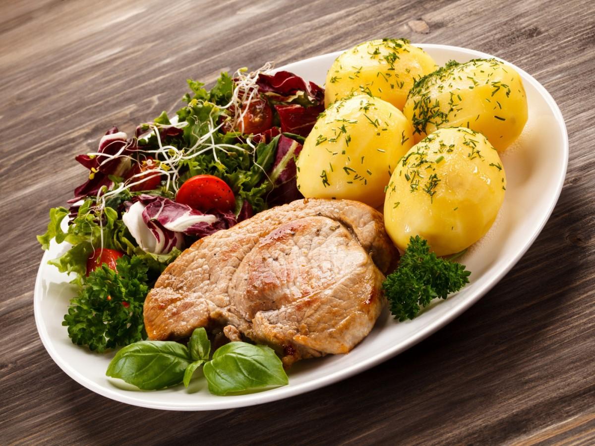 Пазл Собирать пазлы онлайн - Салат к мясу