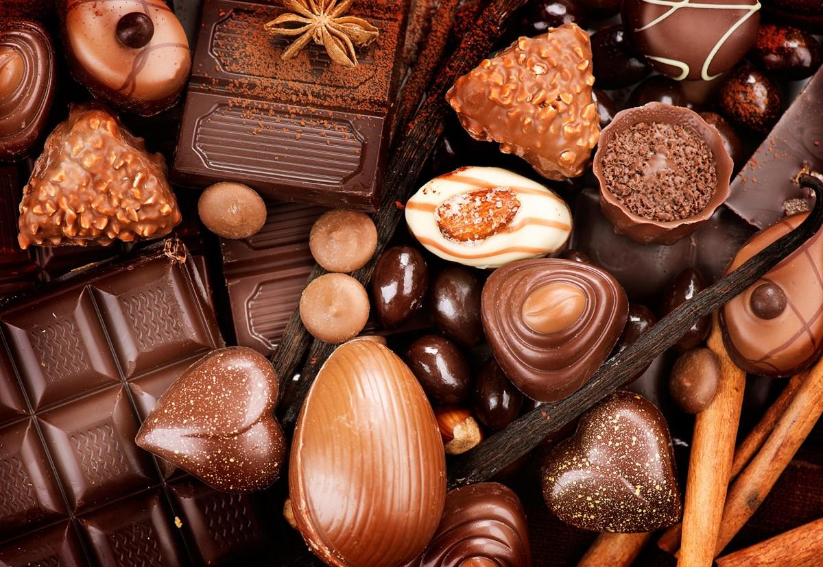 Пазл Собирать пазлы онлайн - Шоколад ассорти