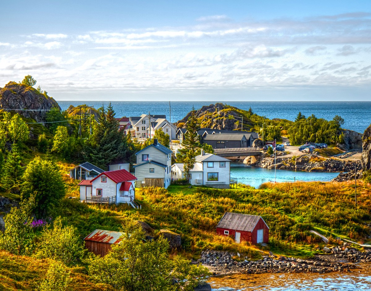 Пазл Собирать пазлы онлайн - Шведский пейзаж