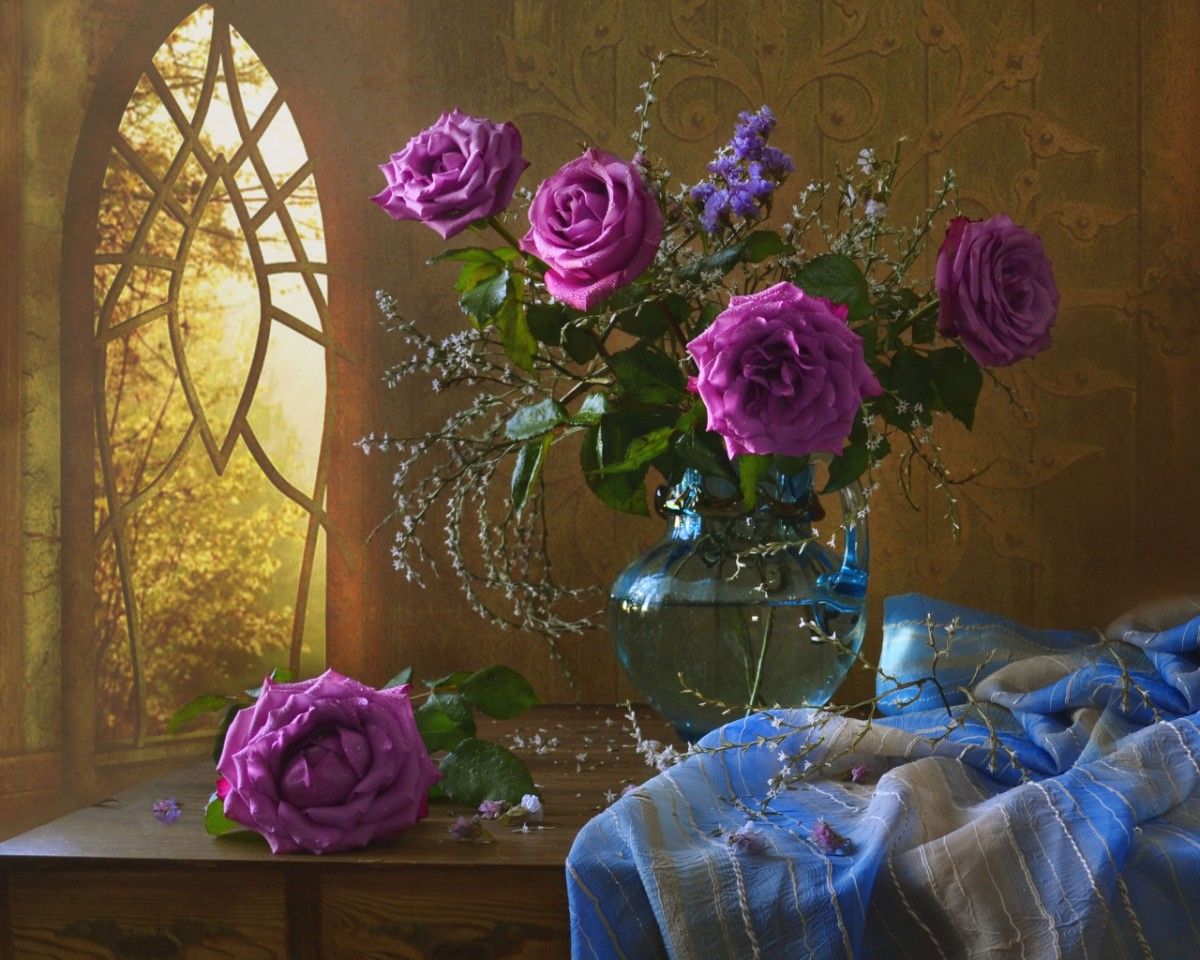 Пазл Собирать пазлы онлайн - Сиреневые розы