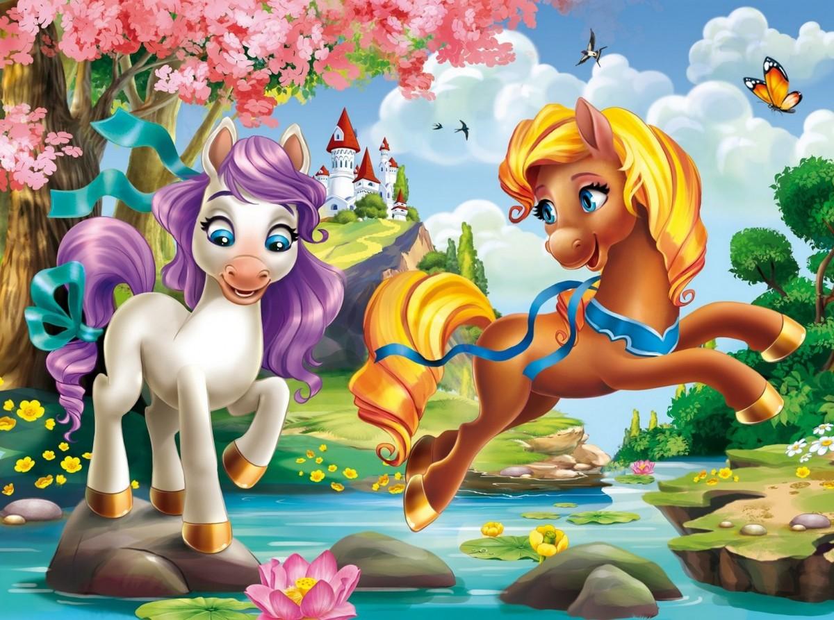 Пазл Собирать пазлы онлайн - Сказочные пони