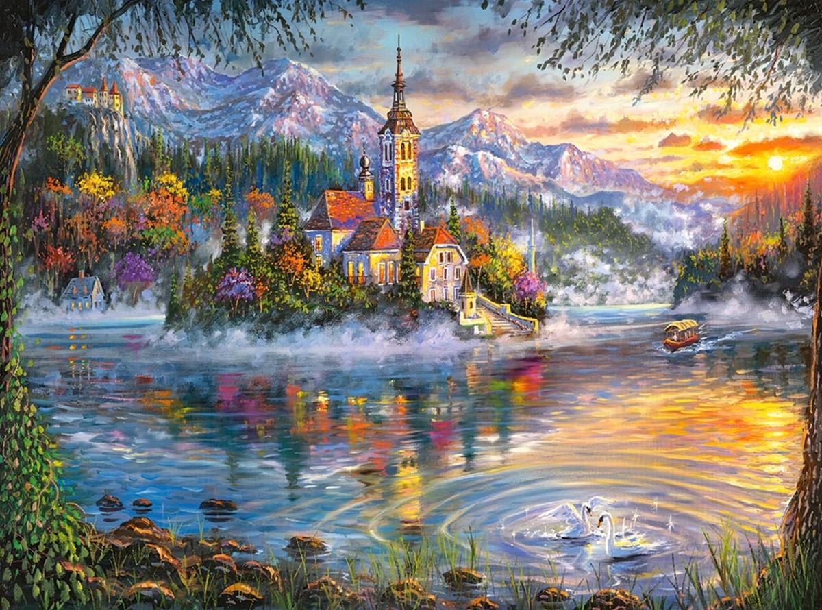 Пазл Собирать пазлы онлайн - Сказочное озеро