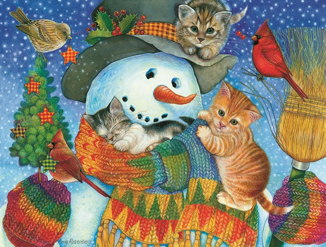 Пазл Собирать пазлы онлайн - Снежный друг