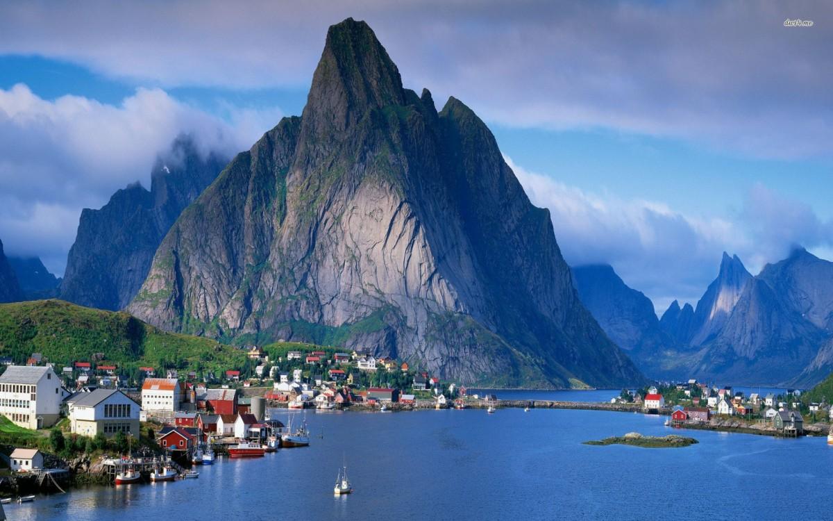 Пазл Собирать пазлы онлайн - Согнефьорд в Норвегии