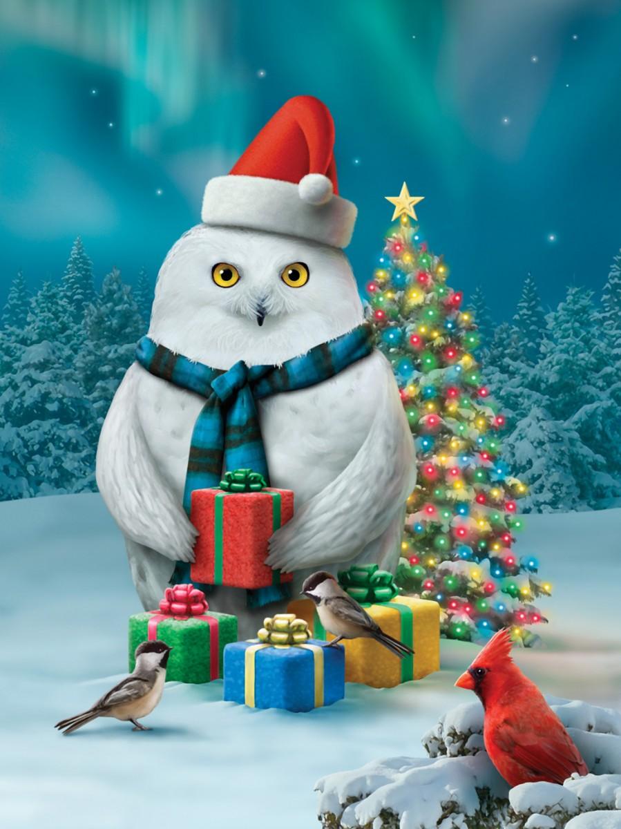 Пазл Собирать пазлы онлайн - Совиное Рождество