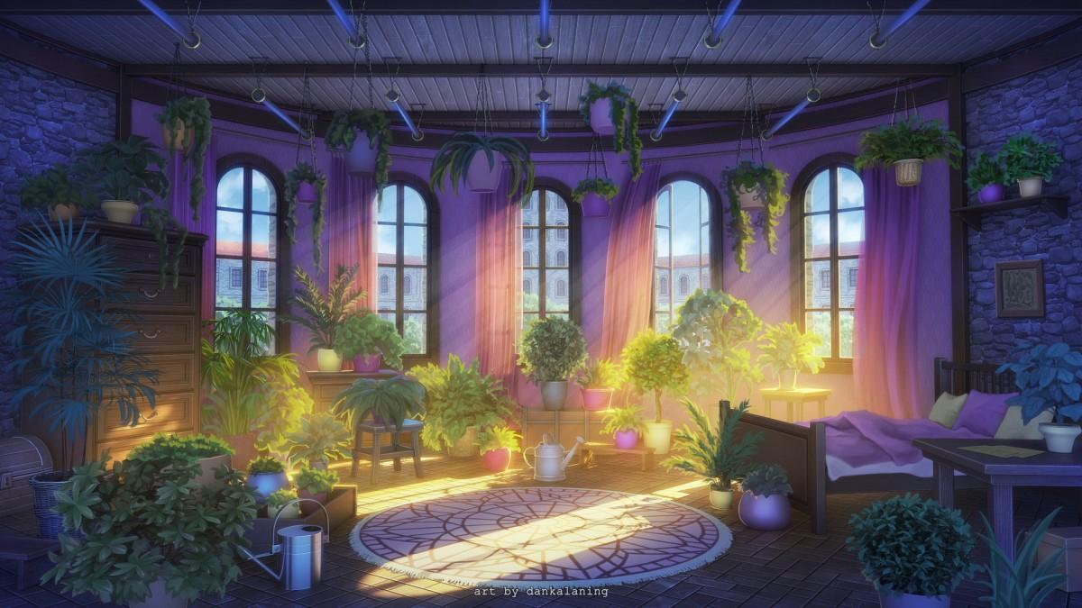 Пазл Собирать пазлы онлайн - Спальня ботаника