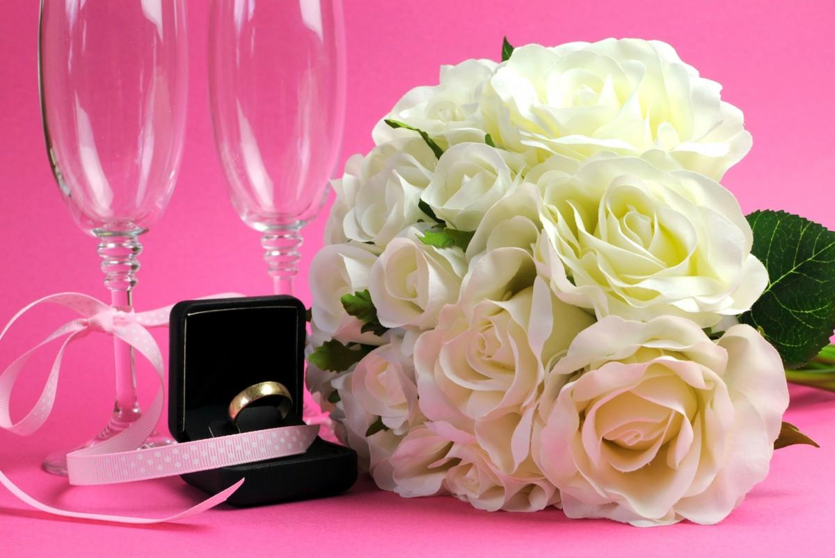 Пазл Собирать пазлы онлайн - Свадебный букет