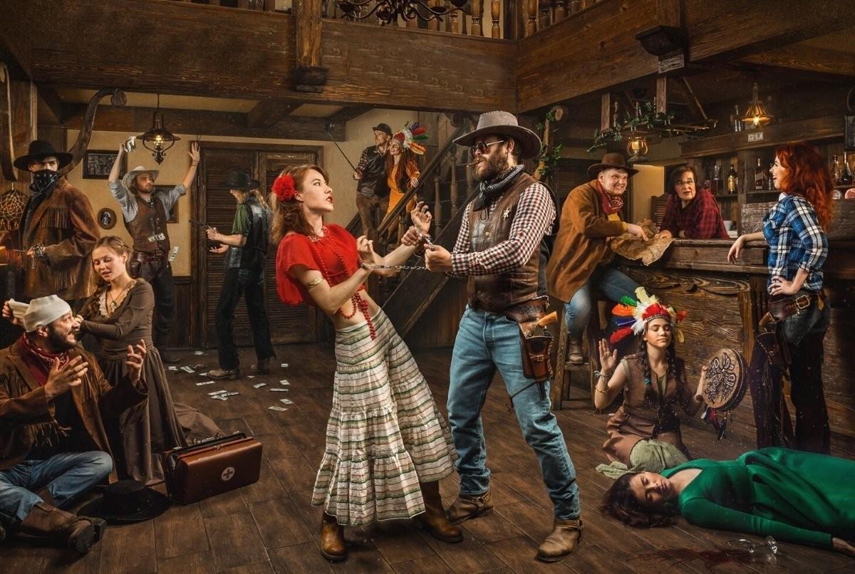 Пазл Собирать пазлы онлайн - Танцы с ковбоем