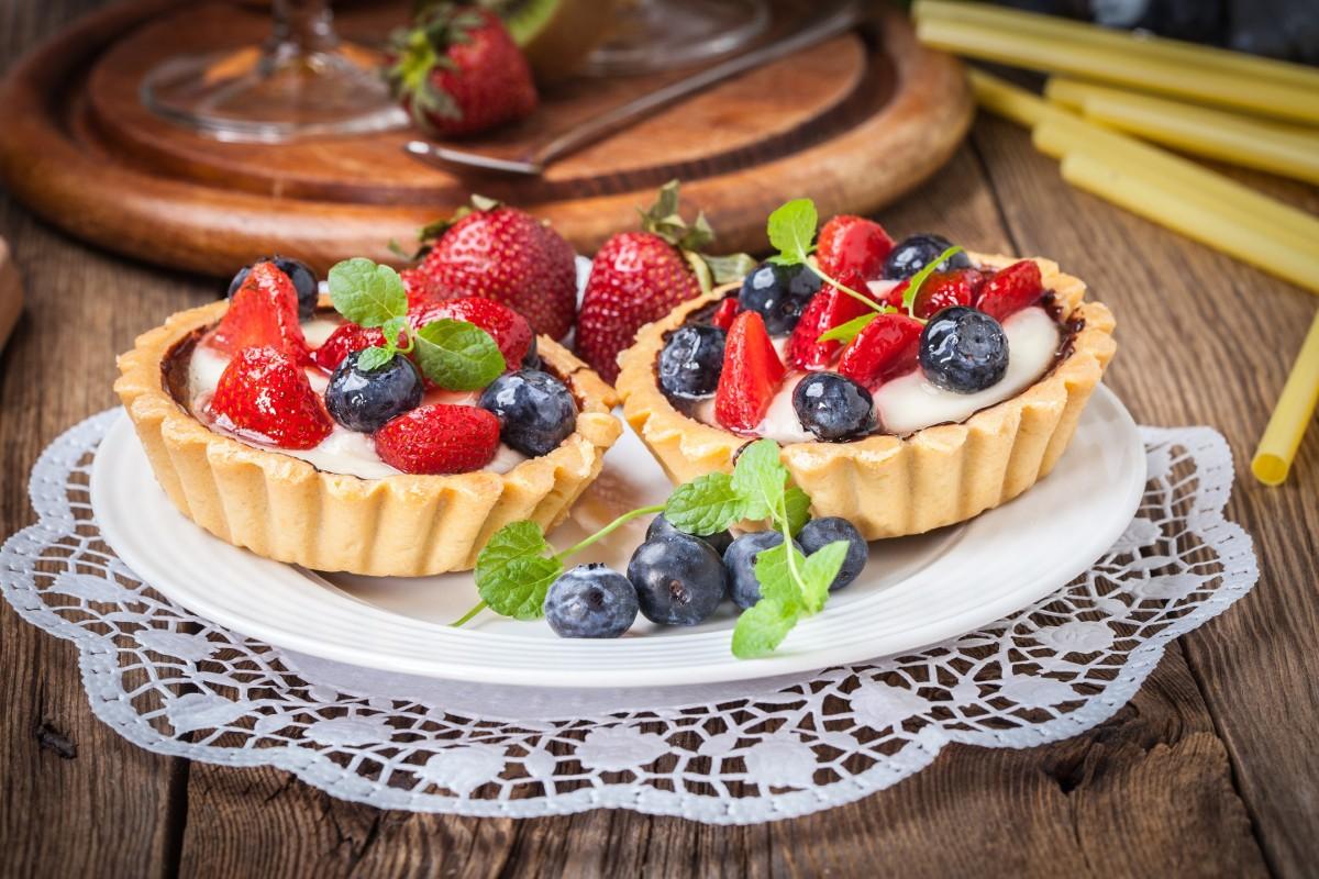 Пазл Собирать пазлы онлайн - Тарталетки с ягодами