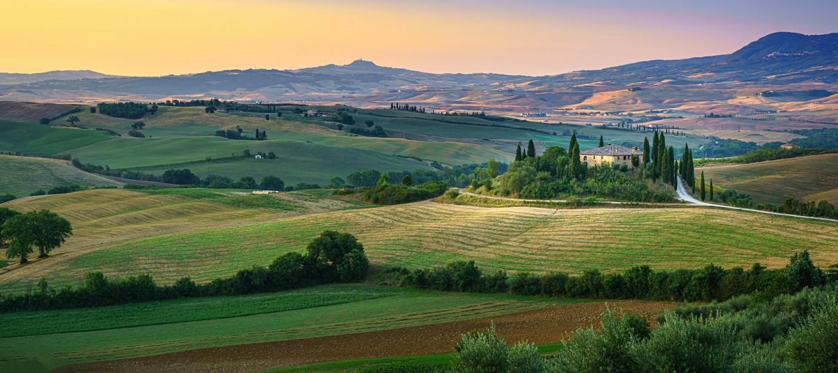 Пазл Собирать пазлы онлайн - Тосканские поля