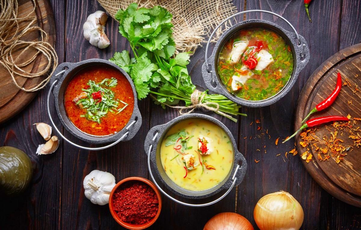 Пазл Собирать пазлы онлайн - Три супа