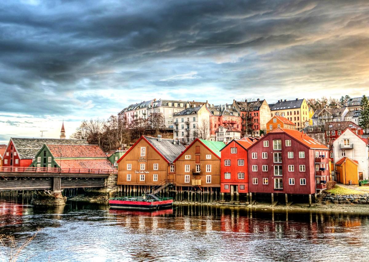 Пазл Собирать пазлы онлайн - Тронхейм Норвегия