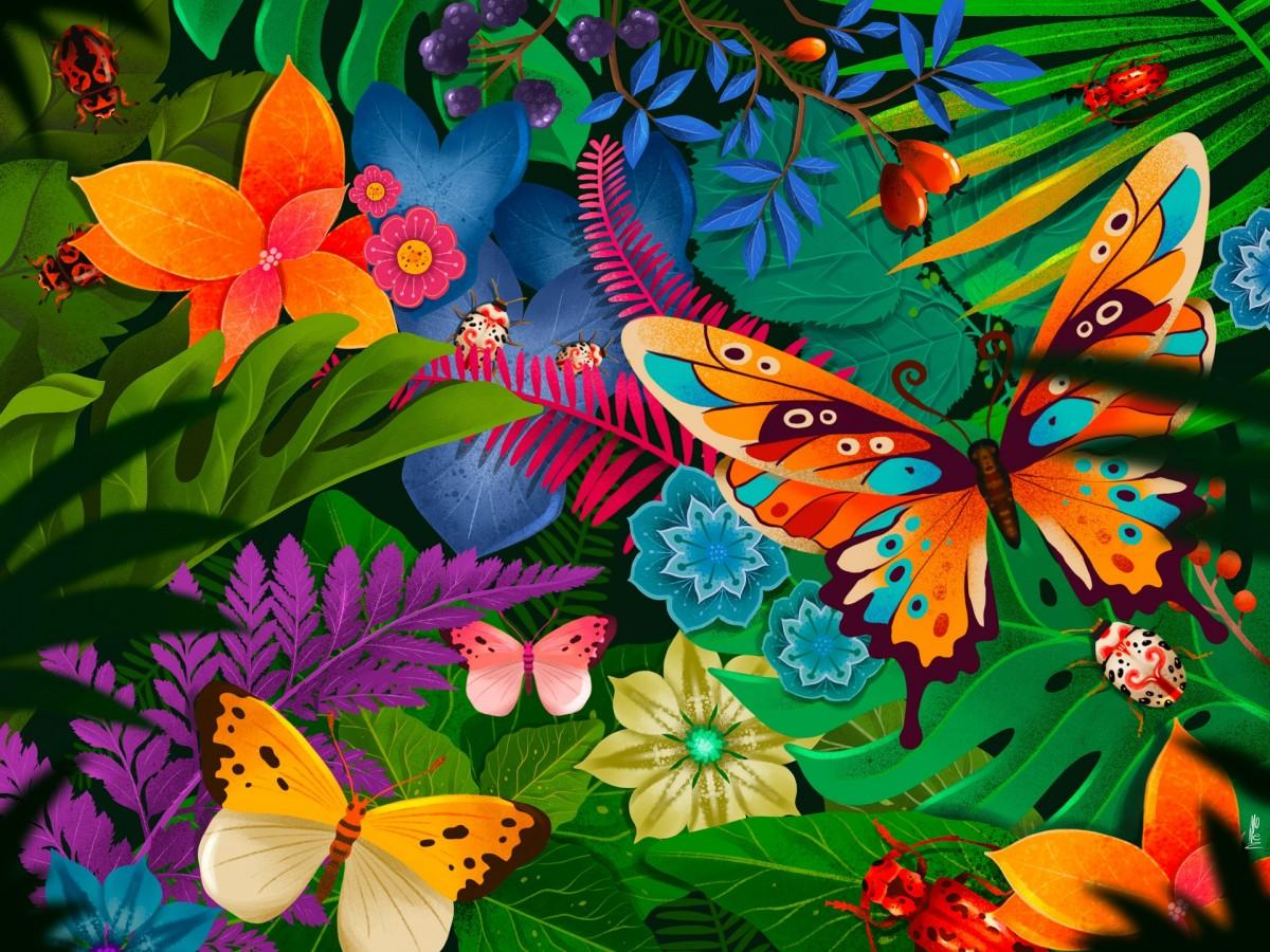 Пазл Собирать пазлы онлайн - Тропический лес