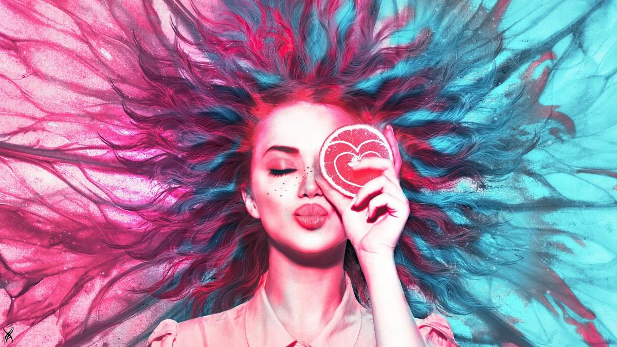 Пазл Собирать пазлы онлайн - Цитрусовый поцелуй