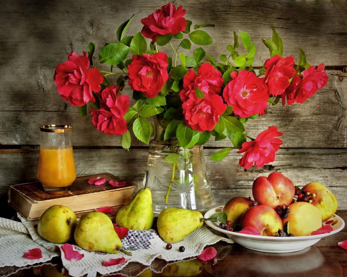 Пазл Цветы и фрукты