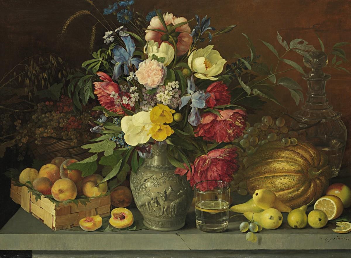 Пазл Собирать пазлы онлайн - Цветы и фрукты