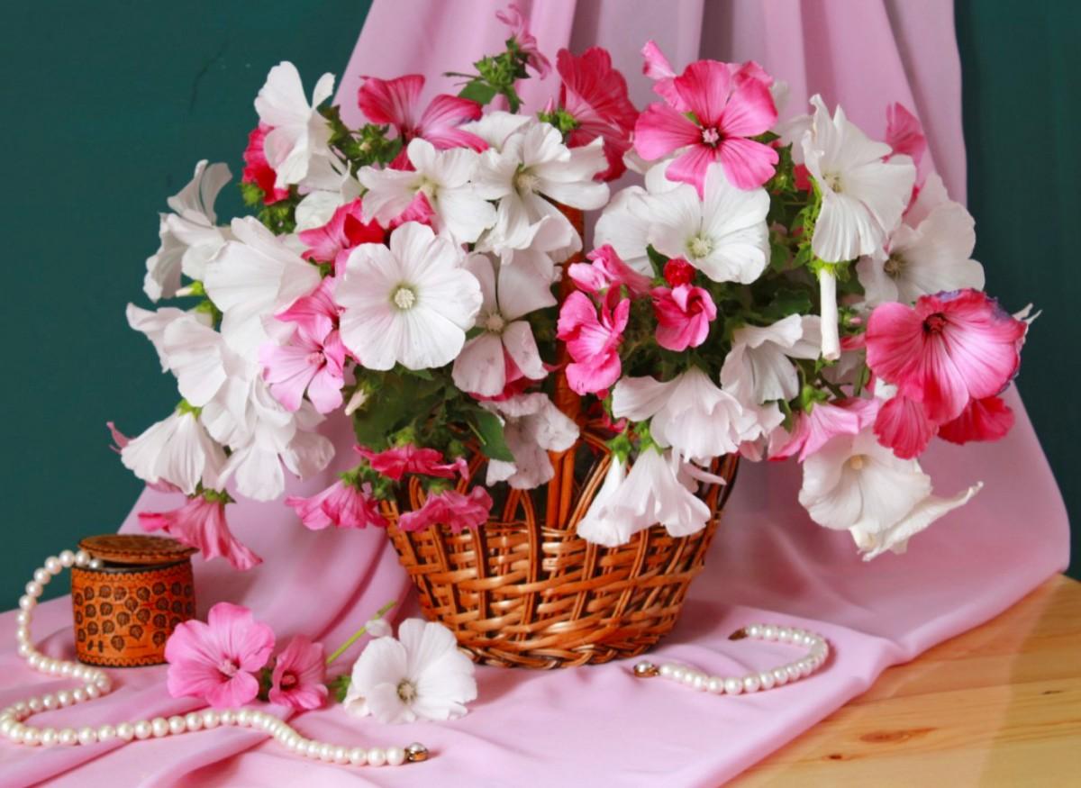 Пазл Собирать пазлы онлайн - Цветы и жемчуг
