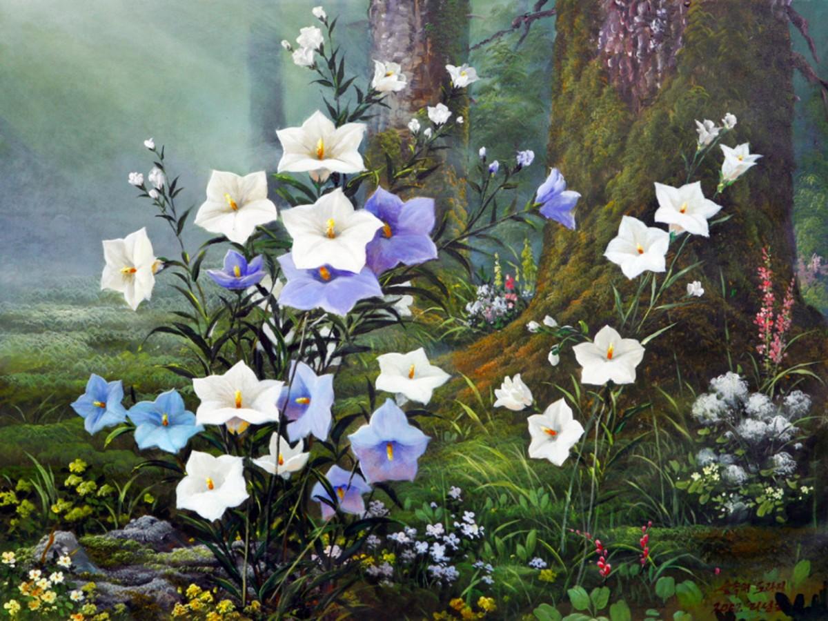 Пазл Собирать пазлы онлайн - Цветы в лесу