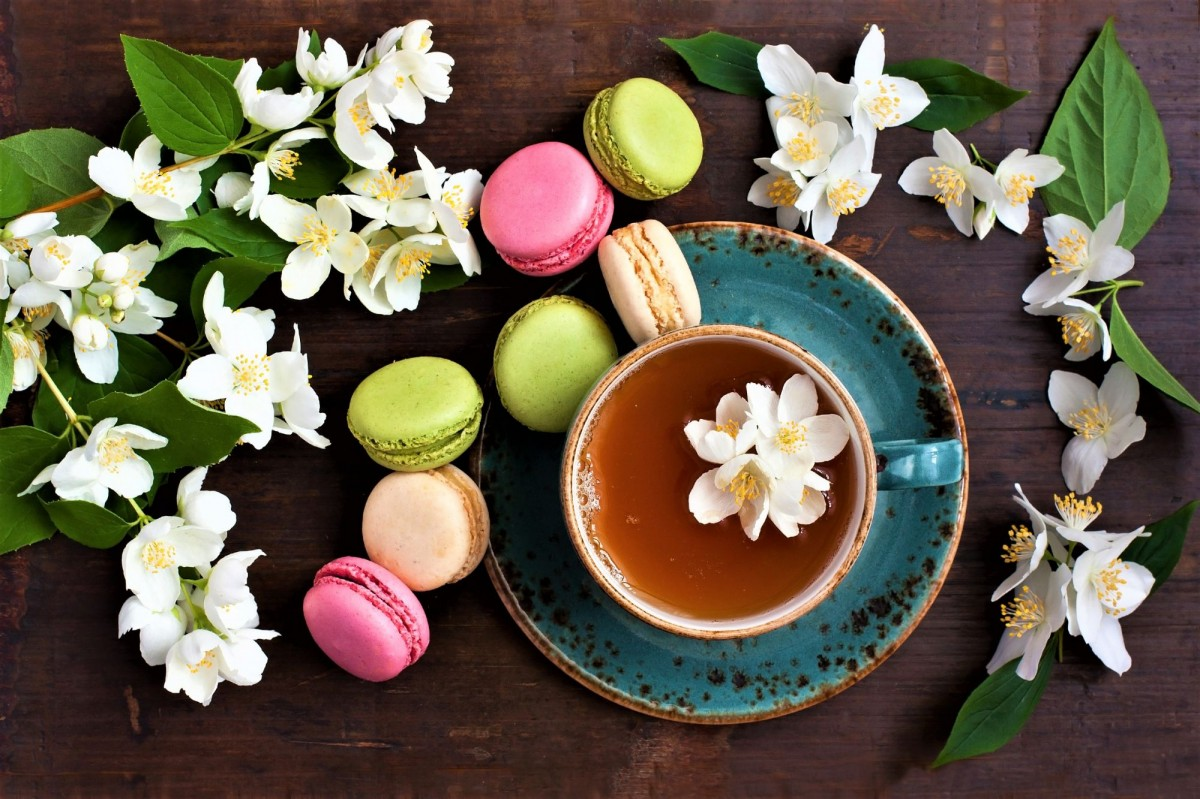 Пазл Собирать пазлы онлайн - Цветочный чай