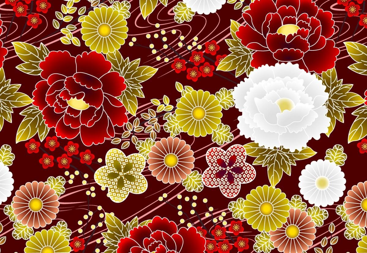 Пазл Собирать пазлы онлайн - Цветочный узор
