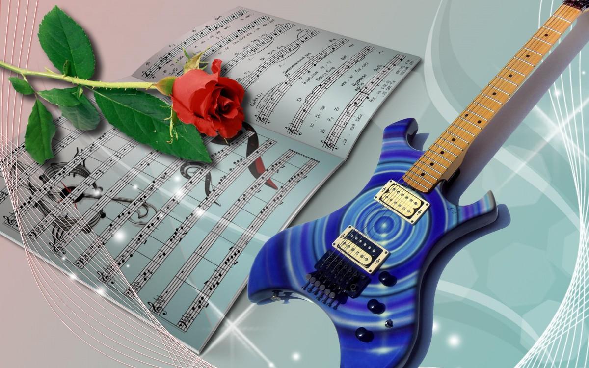 Пазл Собирать пазлы онлайн - Цветок и музыка