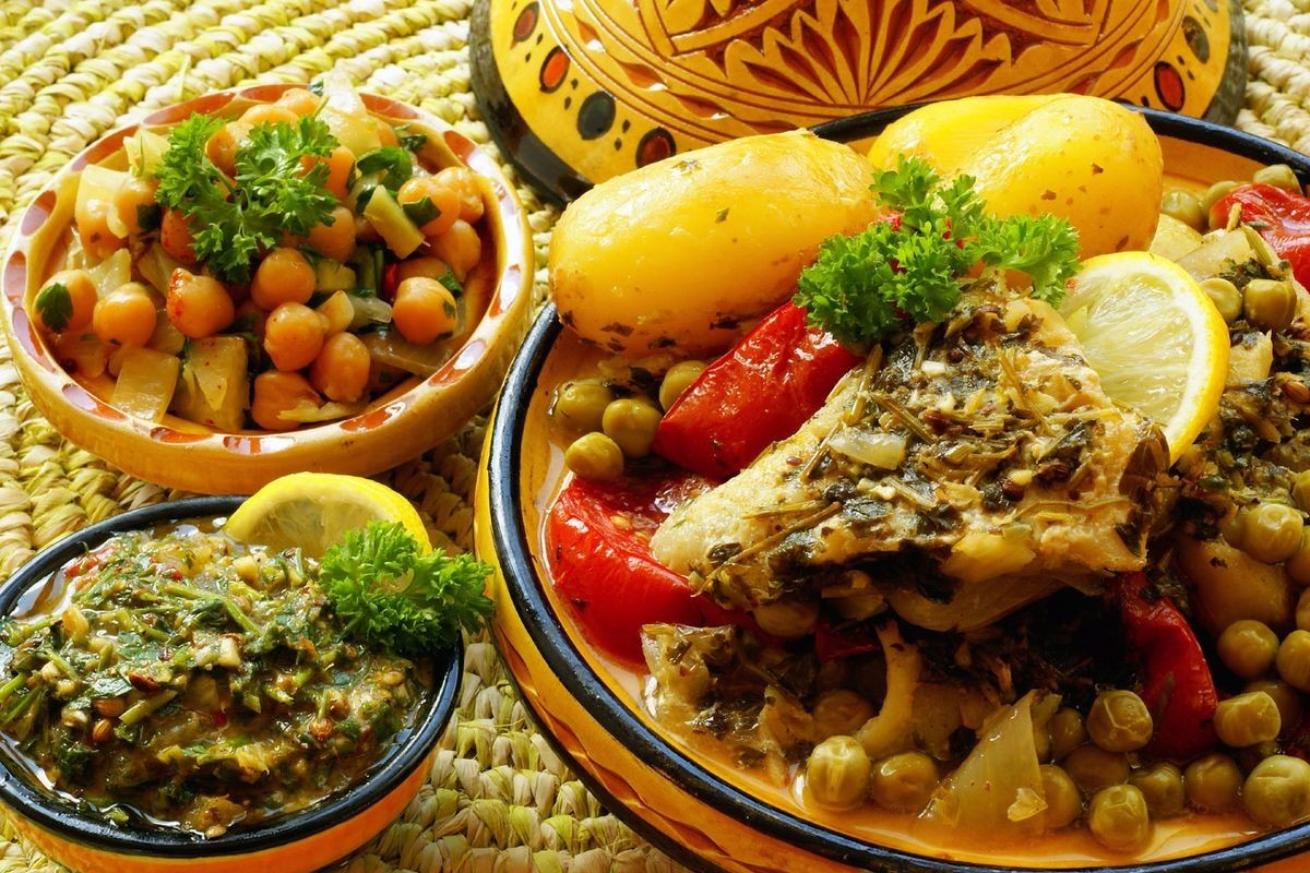 Пазл Собирать пазлы онлайн - Тунисский обед