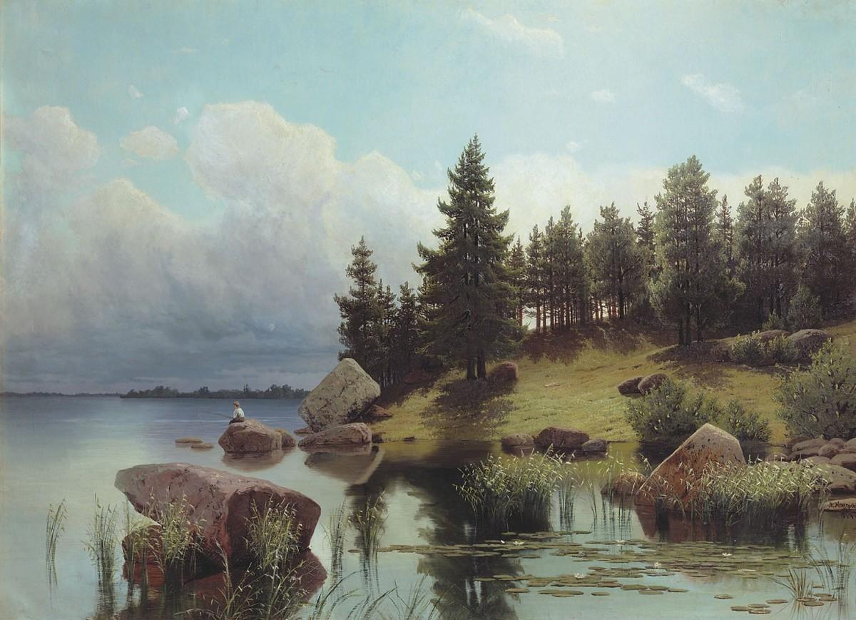 Пазл Собирать пазлы онлайн - У лесного озера