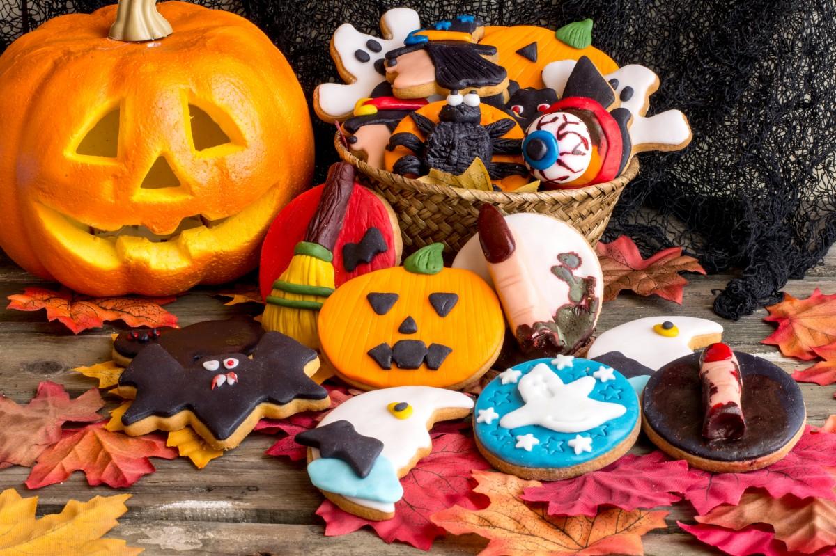 Пазл Собирать пазлы онлайн - Угощения хэллоуина