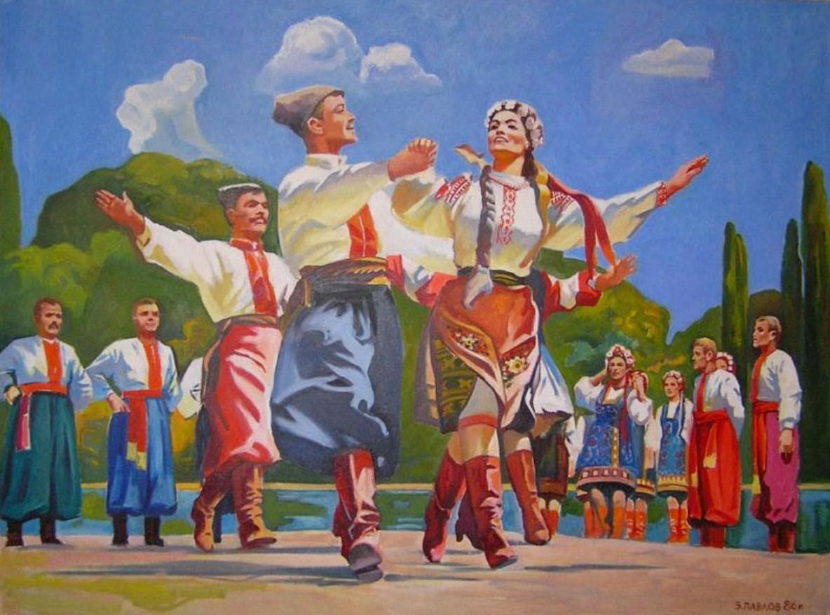Пазл Собирать пазлы онлайн - Украинский танец