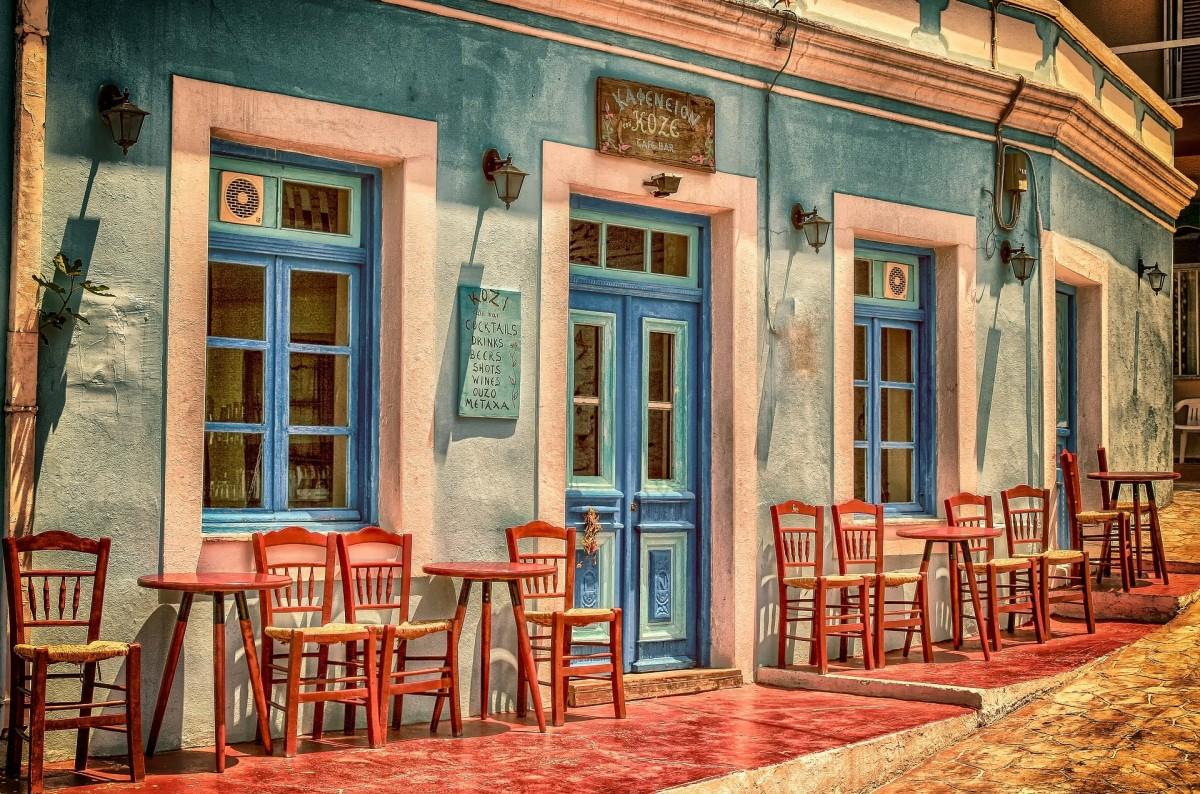 Пазл Собирать пазлы онлайн - Уличное кафе