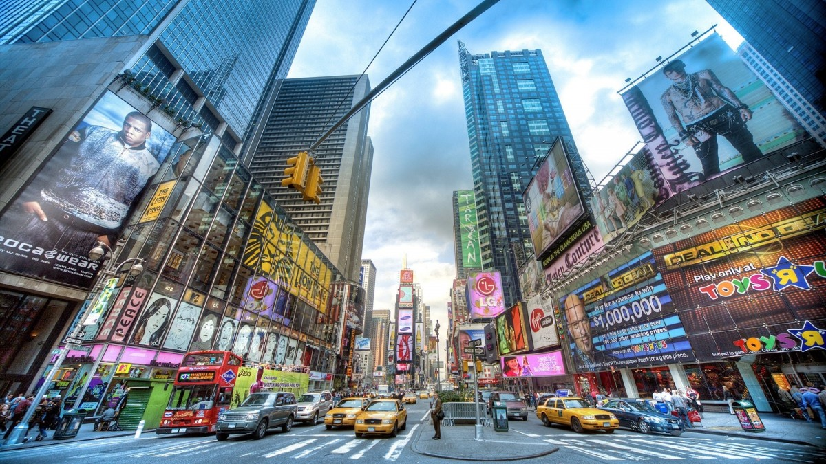 Пазл Собирать пазлы онлайн - Улица в Нью-Йорке