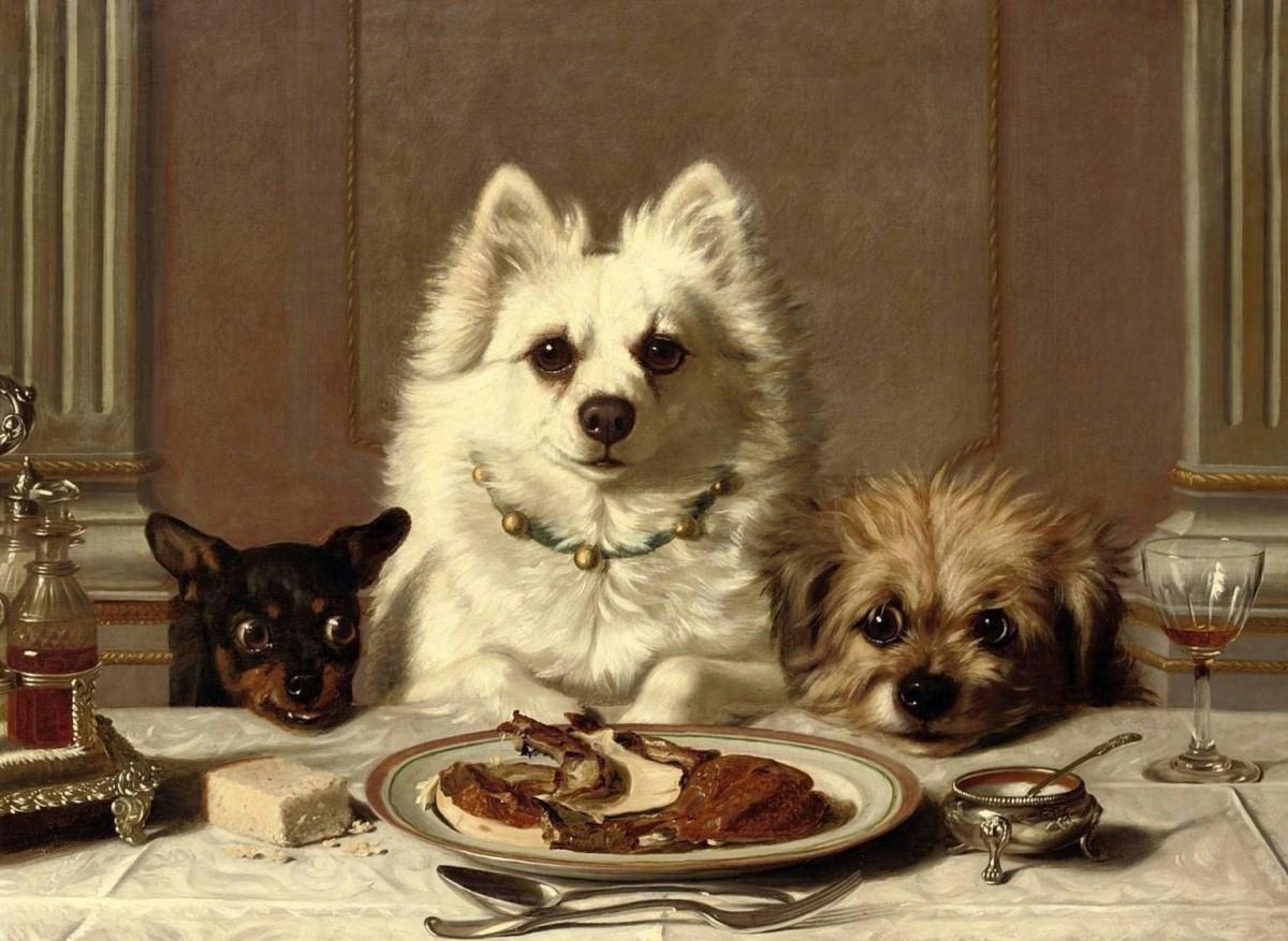 Пазл Собирать пазлы онлайн - Ужин на троих