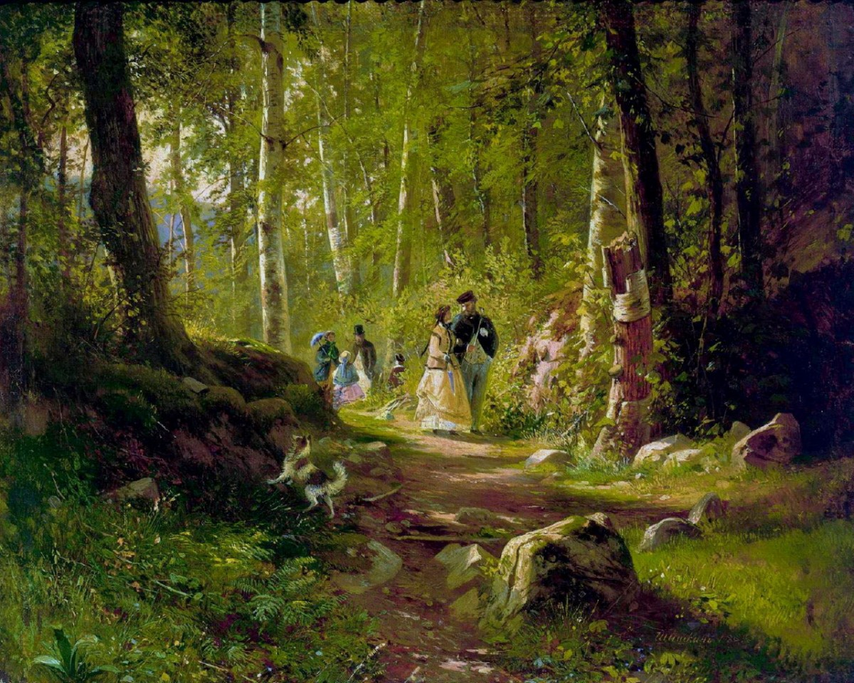 Пазл Собирать пазлы онлайн - Прогулка в лесу