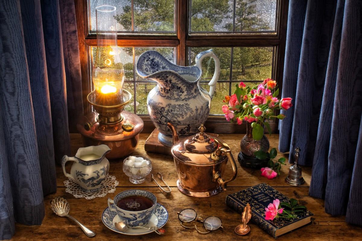 Пазл Собирать пазлы онлайн - Вечерний чай