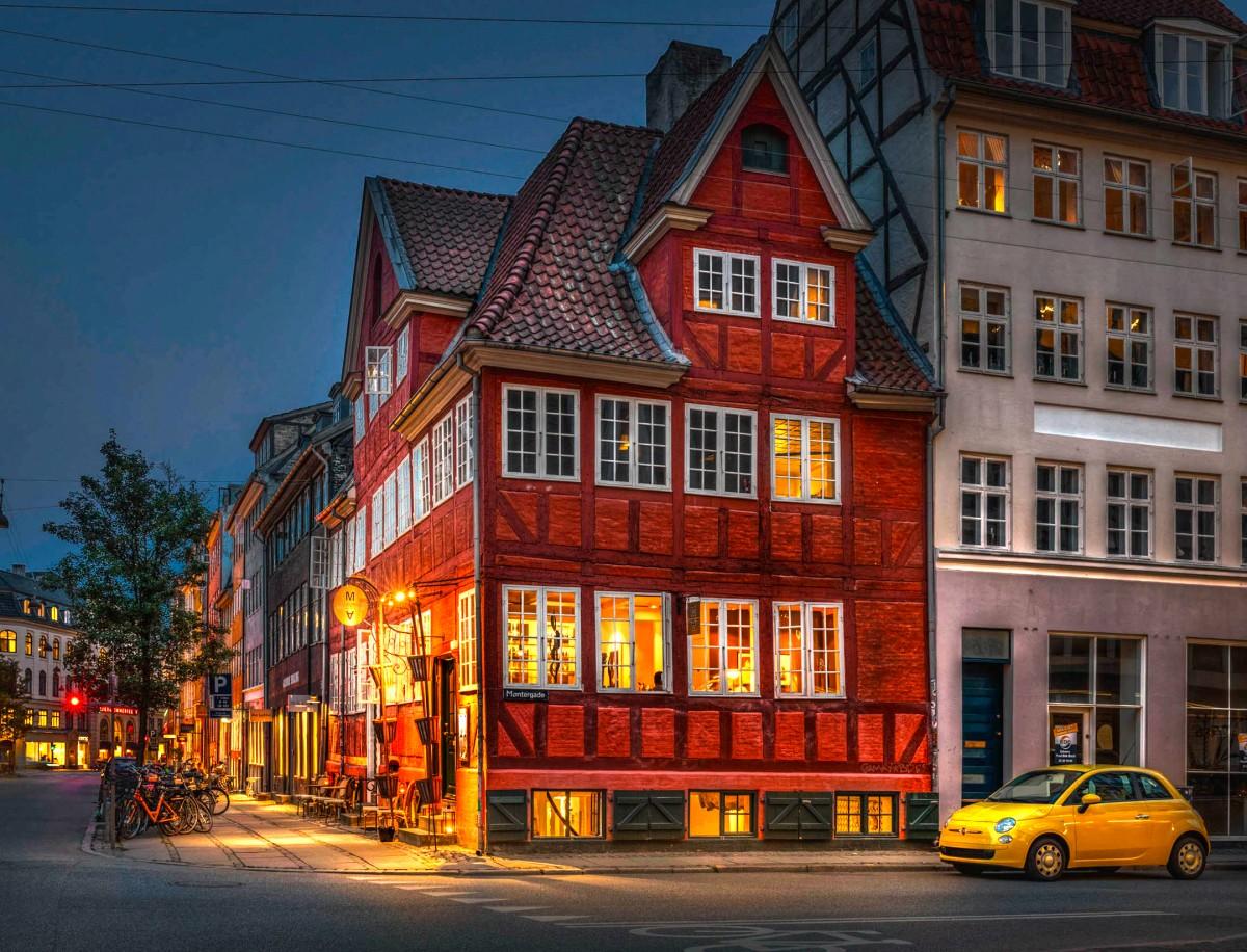 Пазл Собирать пазлы онлайн - Вечерний Копенгаген