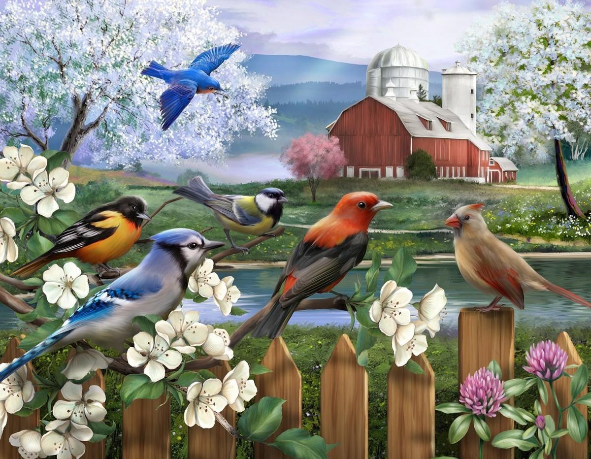 Пазл Собирать пазлы онлайн - Весна
