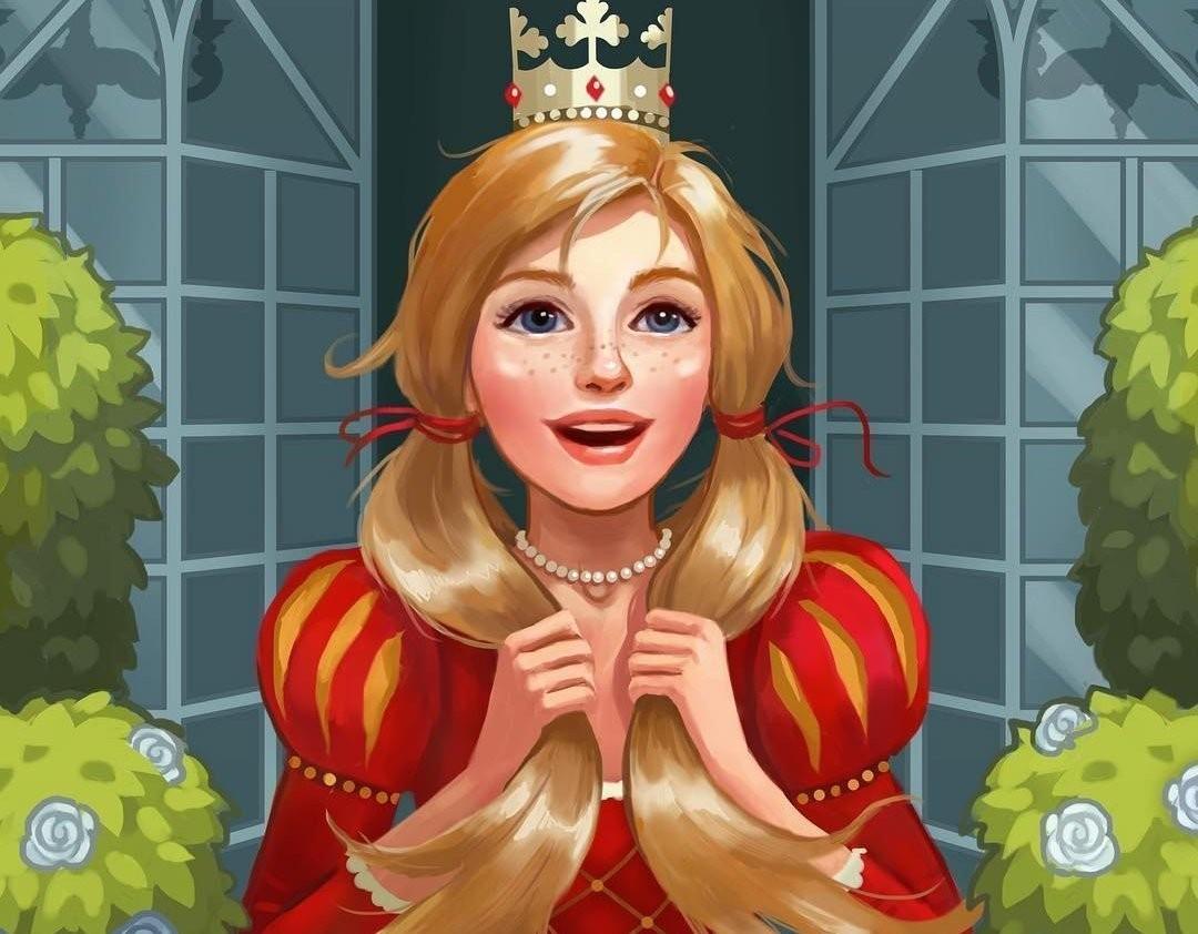 Пазл Собирать пазлы онлайн - Весёлая принцесса