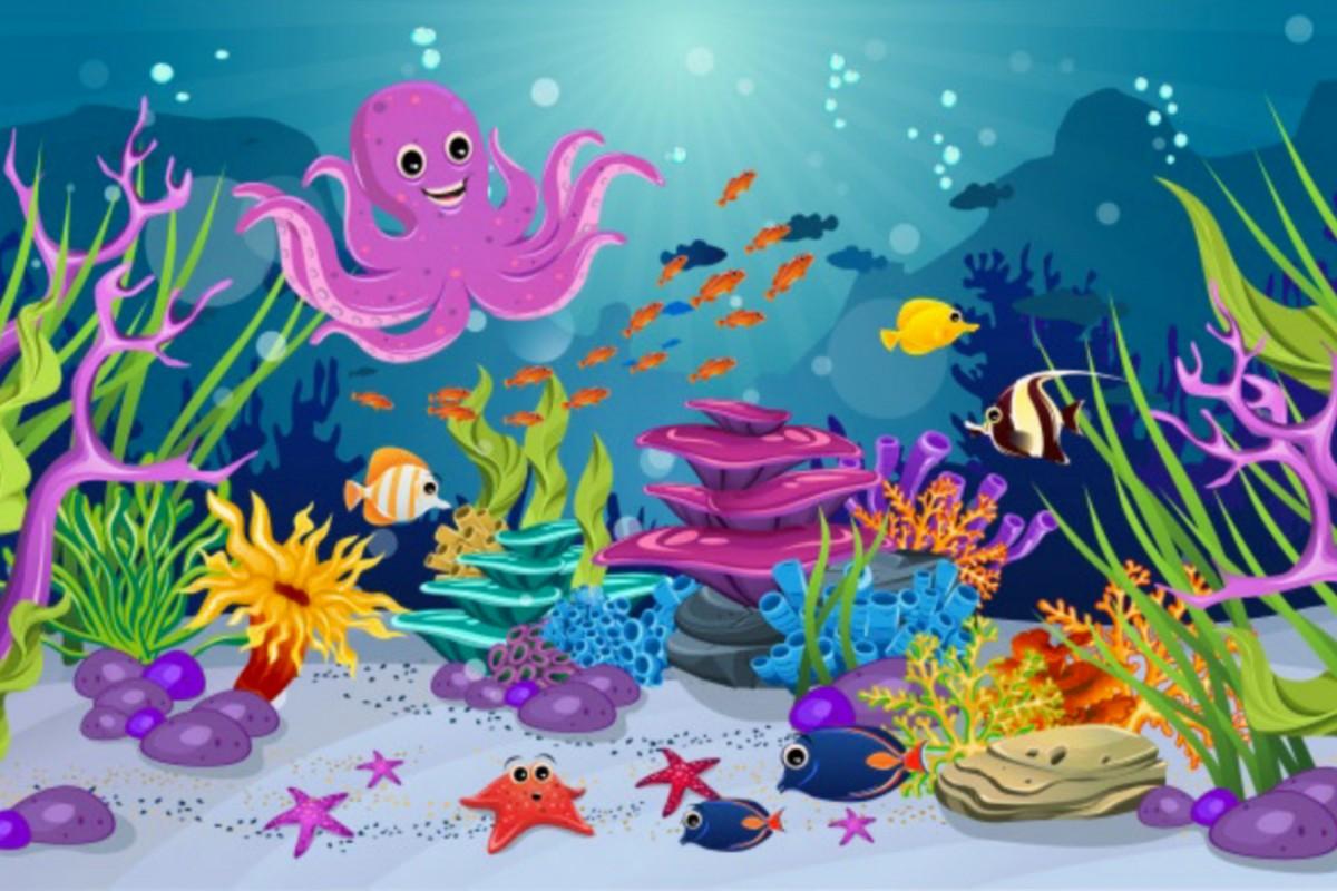 Пазл Собирать пазлы онлайн - Весёлый осьминог