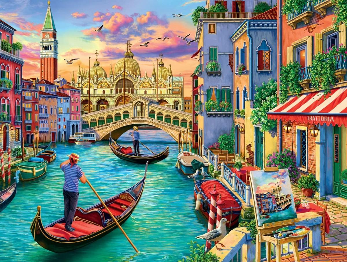 Пазл Собирать пазлы онлайн - Виды Венеции