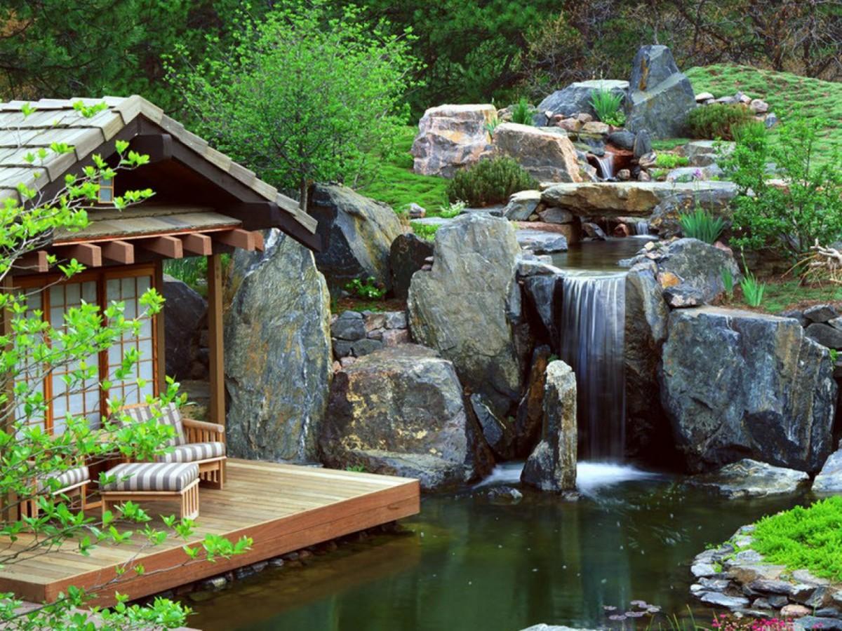 Пазл Собирать пазлы онлайн - Вилла у водопада