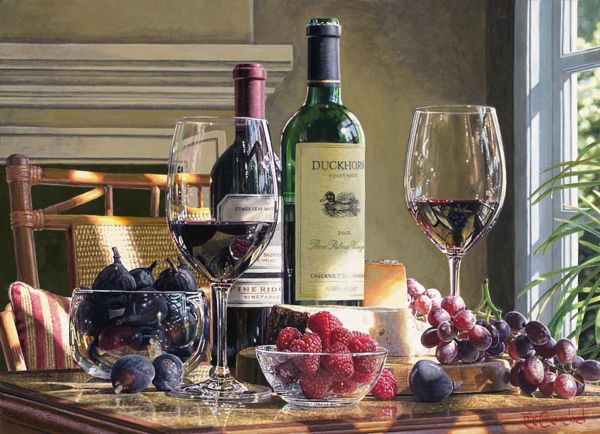 Пазл Собирать пазлы онлайн - Вино и ягоды